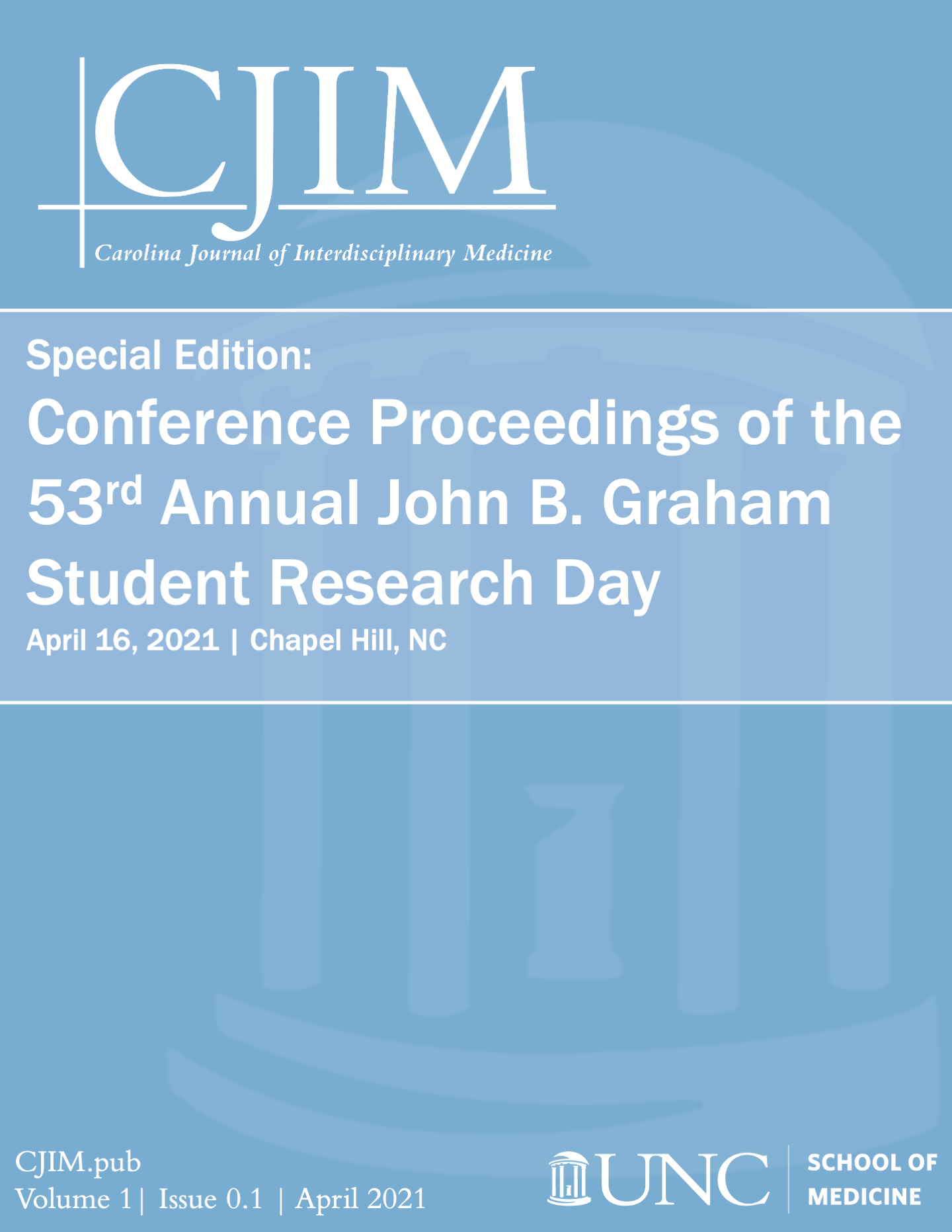 View Special Edition: Conference Proceedings of the 53rd John B. Graham Student Research Day